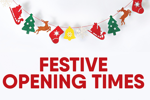 Festive Opening Times image